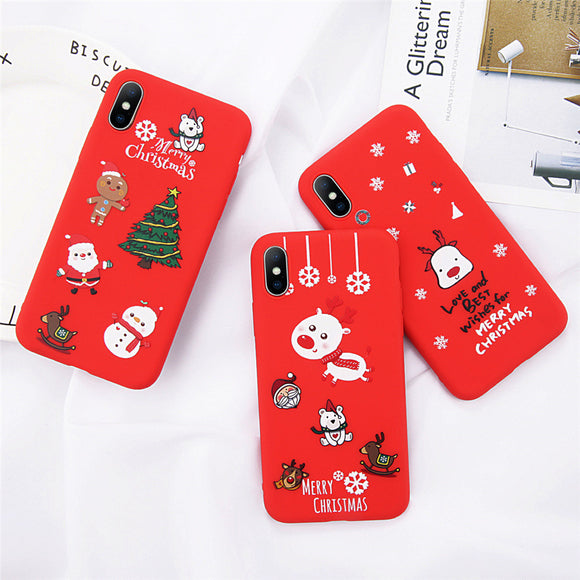 Christmas Cute Cartoon iPhone Cases (6/6s/6sPlus/7/7Plus/ 8Plus/X/XR/XSMax)