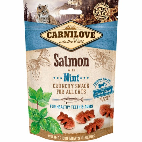 Carnilove crunchy snack Salmon with mint (katt)