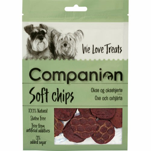 Companion soft chips Beef and Beefheart chips