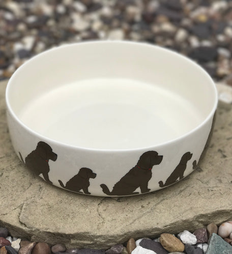 Cockapoo Dog Bowl (large - brown)