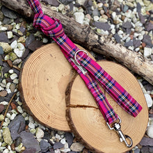 Load image into Gallery viewer, Classic tartan in bright pink collar