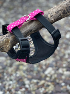 Pink polka dot harness