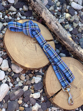 Load image into Gallery viewer, Light blue check tartan collars & lead