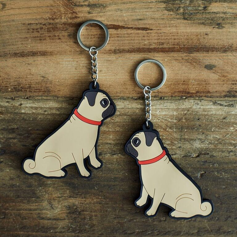 Pug key ring by sweet William