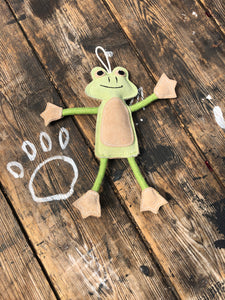 "Francois le frog ""eco"" chew toy"