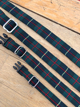 Load image into Gallery viewer, Green/red/navy window pane check collar by Barkley & Fetch