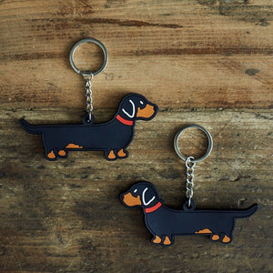 Dachshund key ring by sweet William