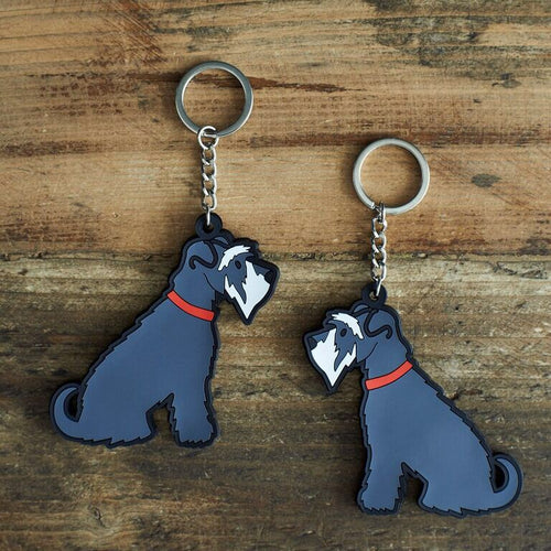 Grey Schnauzer key ring by sweet William