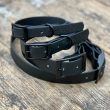 Load image into Gallery viewer, Matt black biothane collars & Lead