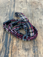 Load image into Gallery viewer, Classic tartan in navy/red/yellow & white (collar & leads)
