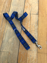 Load image into Gallery viewer, Blue tartan lead EXCLUSIVE for B&V by Barkley & Fetch