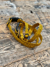 "Load image into Gallery viewer, Yellow/black Pawsome ""wild side"" collars & Lead by Barkley & Fetch"