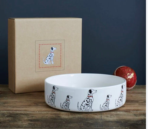 Dalmatian bowl (large-Black/white)
