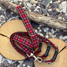 Load image into Gallery viewer, Classic Red Stewart tartan collar & Leads