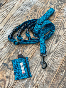 "Blue/black Pawsome ""wild side"" collars & Lead by Barkley & Fetch"