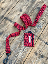 Load image into Gallery viewer, Red leopard print dog collars