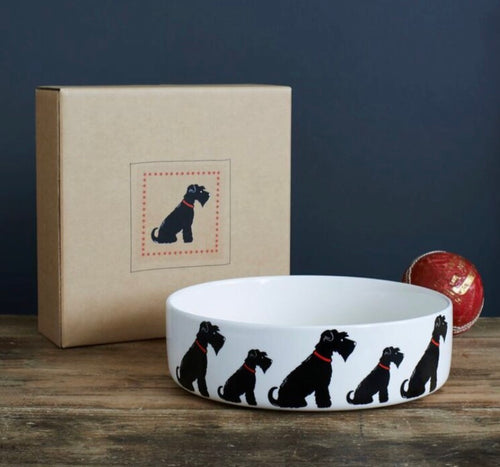 Schnauzer dog bowl (Black)