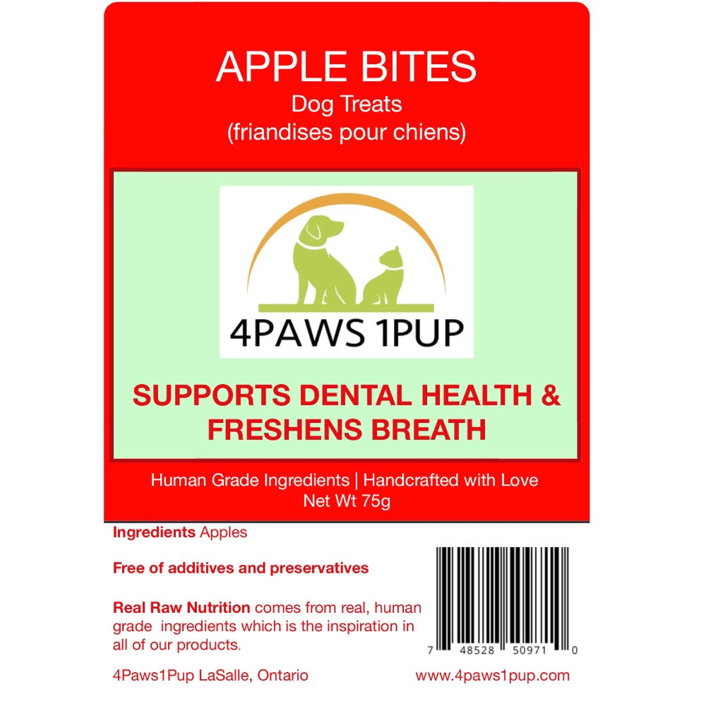 4Paws 1Pup Apple Bites Dog Treats