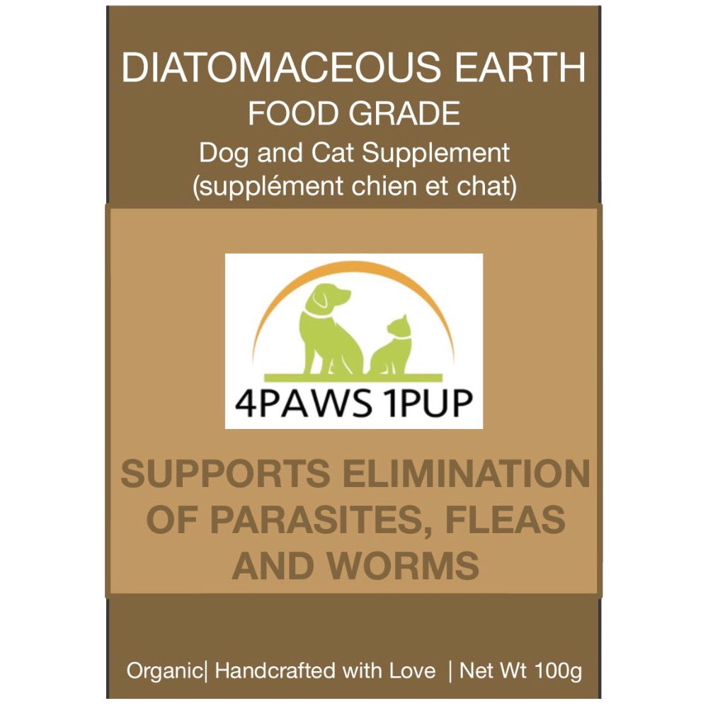 4Paws 1Pup Food Grade Diatomaceous Earth Dog and Cat Supplement