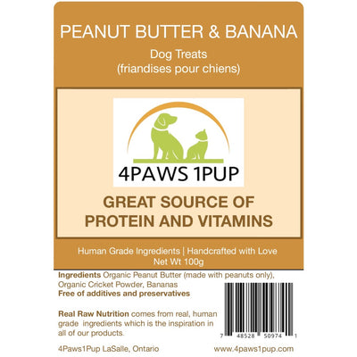 Peanut Butter & Banana Dog Treat