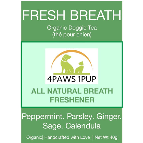 4Paws 1Pup Organic Fresh Breath Doggie Tea