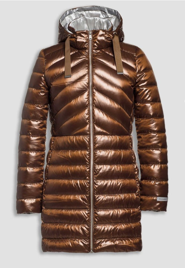 Brown Fitted Puffa Coat