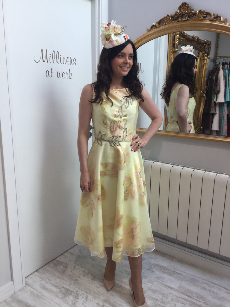 Yellow A-line Dress With Petticoats