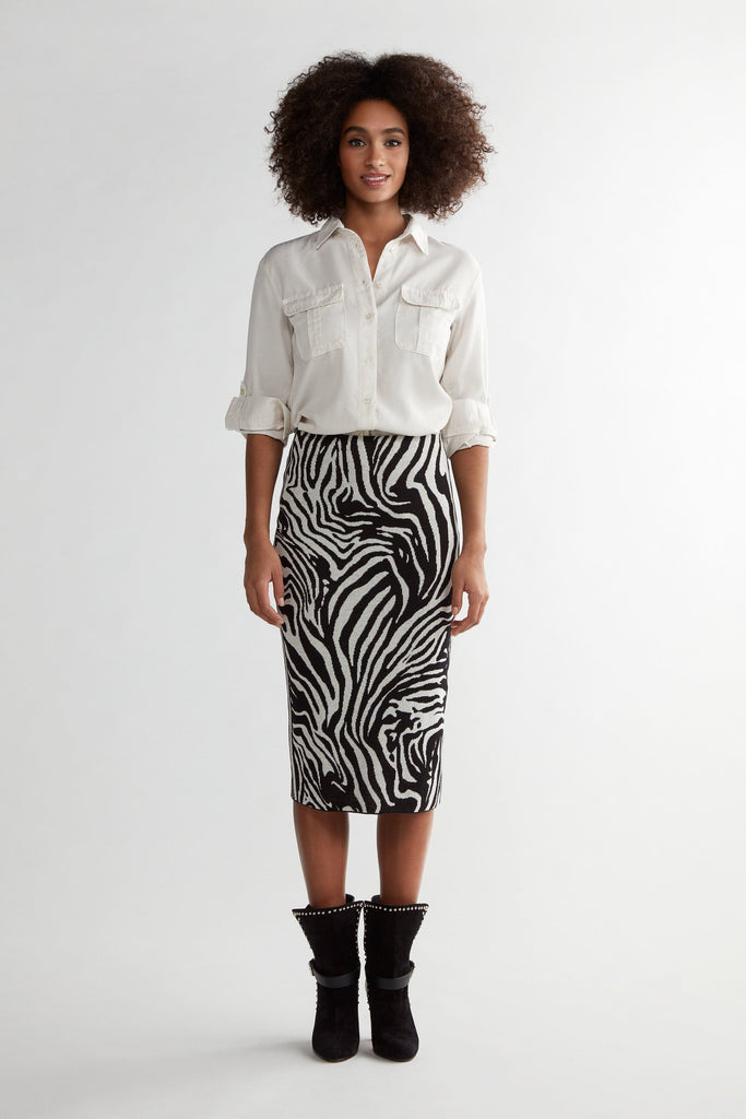 Animal Print Pencil Skirt