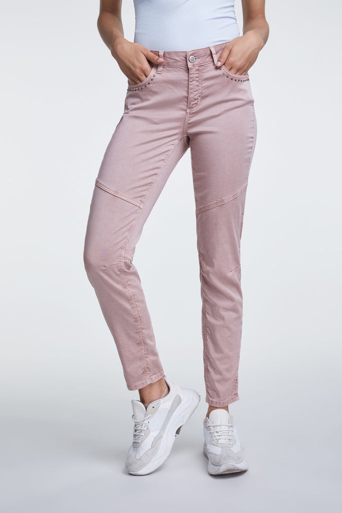 Chino Trousers with Studding Details