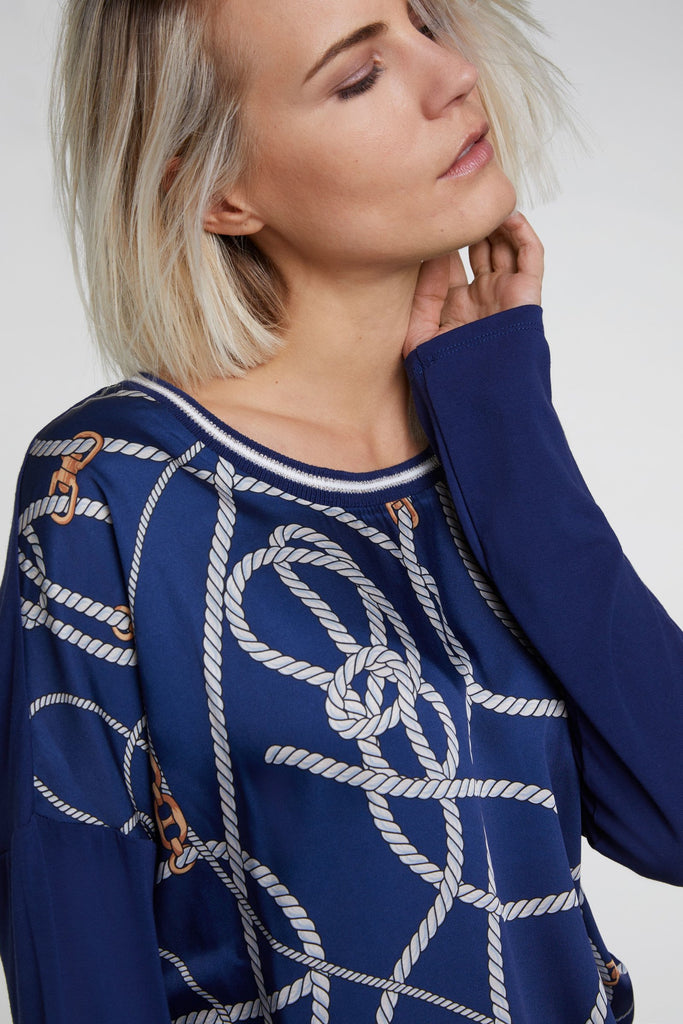 Sailor Print Long Sleeved Top