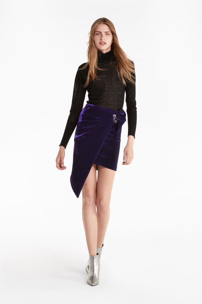 Shimmery Lurex Pencil Mini Skirt