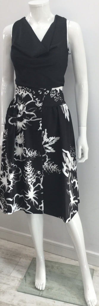 Satin Feel Printed Midi Skirt