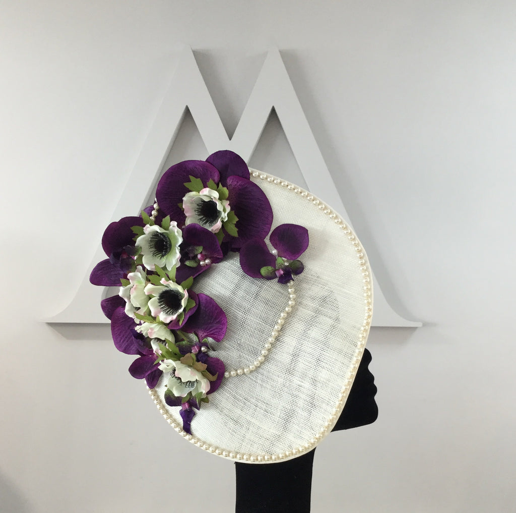 floral headpiece hat fascinator