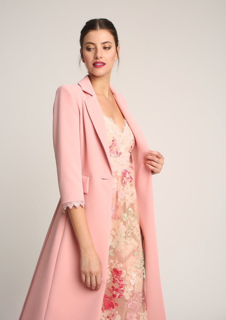 Midi Length Tailored Blazer