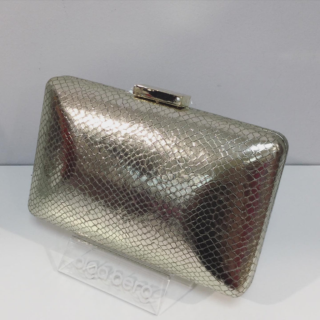 Vanessa Clutch Bag in Light Gold