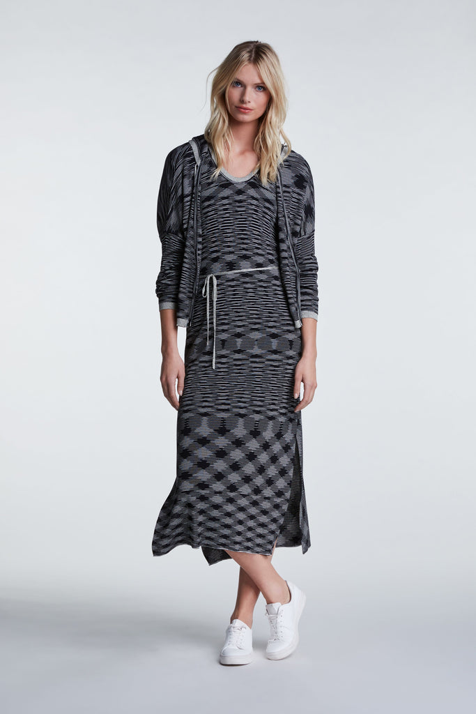 Wool Dress Belt Round Neck