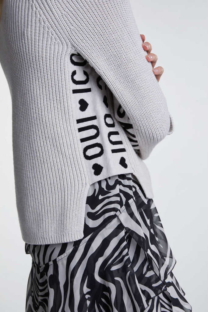 Pullover Text Sleeve