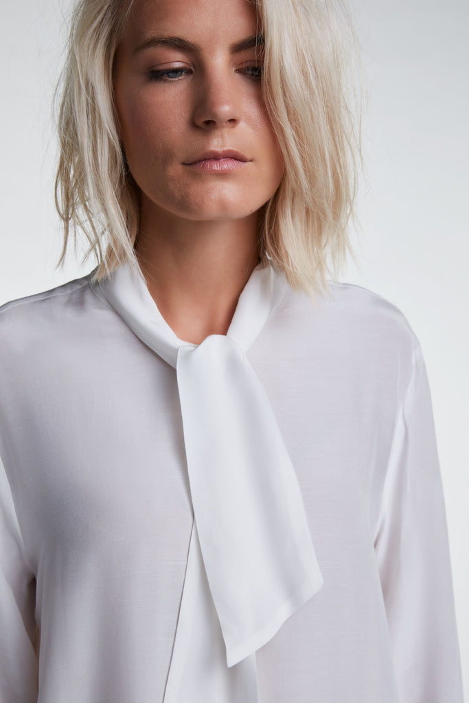 Blouse with Neck Tie