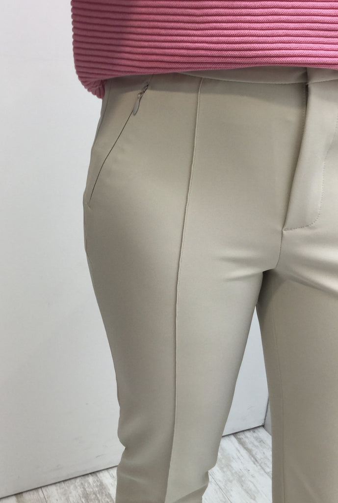 Slim Fit Trousers Zipped Pockets