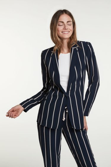 Blazer with Sailor Stripes