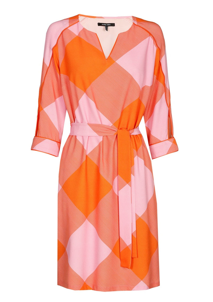 Pink and Orange Printed Dress