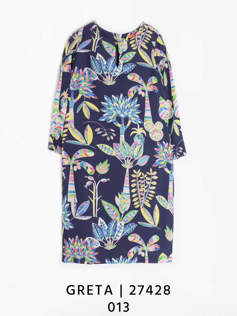 Greta Dress in Hallerbos Navy