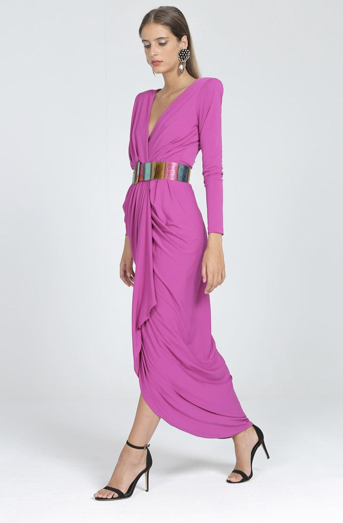 Madge Dress in Buganvilla Colour