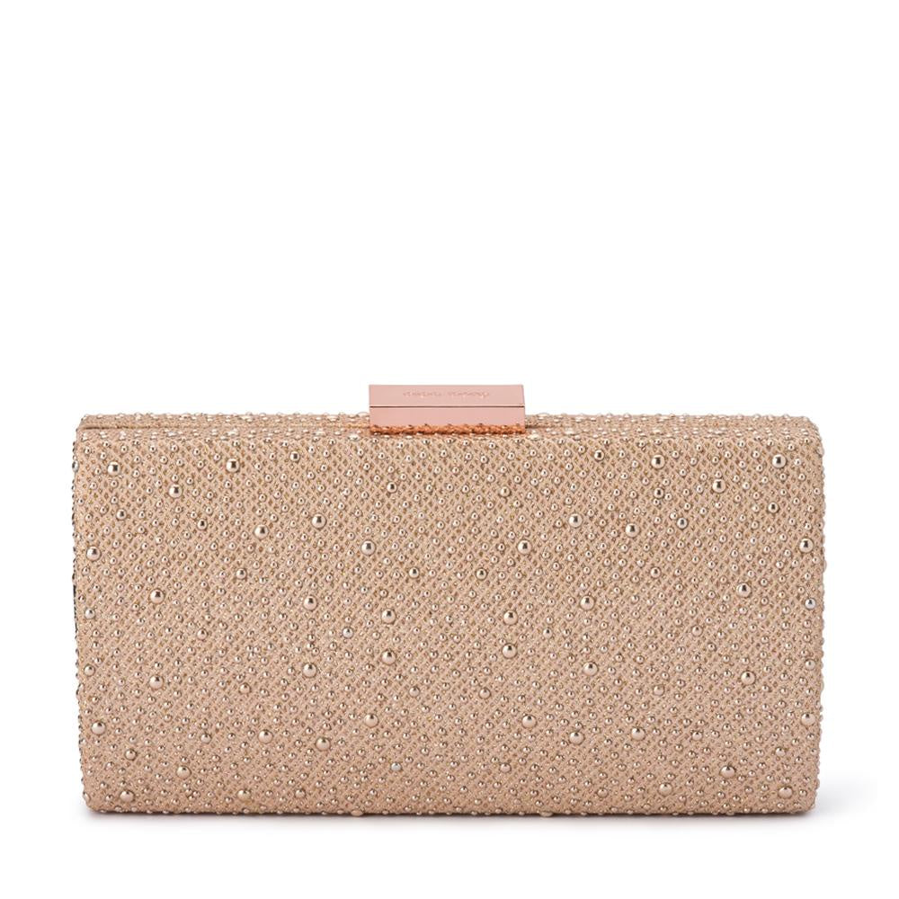 Rose-Gold Joelle Metallic Hotfix Bag