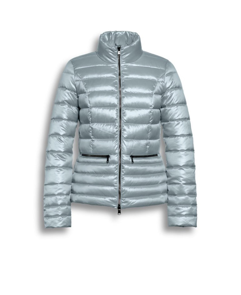 Short Down Filled Jacket - Blue
