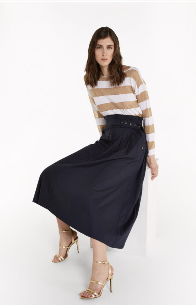 Navy Skirt with Belt