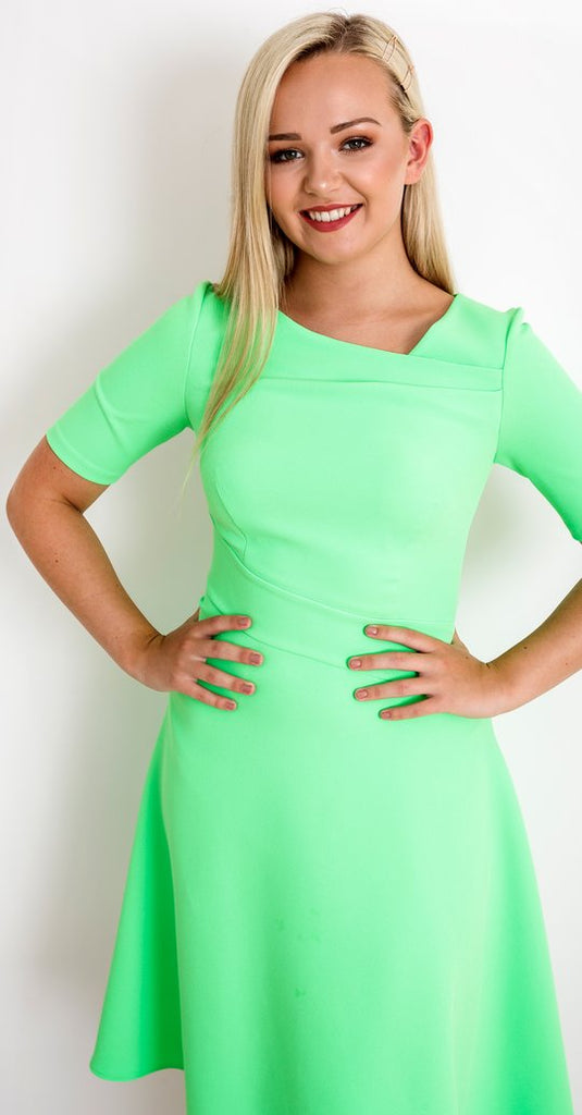 Audrey Dress in Apple Green