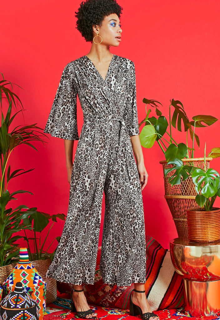Laurie Jumpsuit in Leo Sky Print