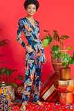 Megan Jumpsuit in Portia Blue