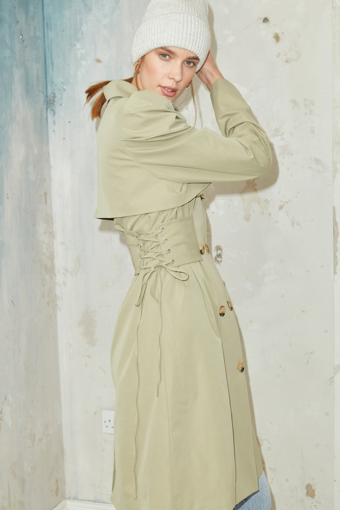 Wiltshire Trenchcoat in Pistachio